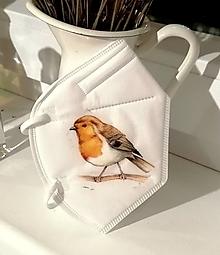 Rúška - respirátor vtáčik - 13176100_