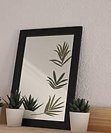 Obrazy - Obraz s lisovanými listami palmy na zrkadle - 13177208_
