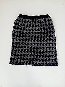 Sukne - Pletená sukňa - 13176157_