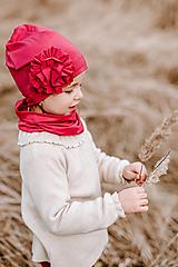 Detské súpravy - Eco friendly set Malinový s kvetom  - 13178560_