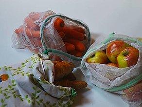 Úžitkový textil - Zero waste sada (Zeleninová) - 13177486_
