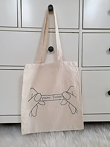 Nákupné tašky - Ručne maľovaná plátená taška Fortune cookie - 13175846_