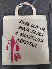 Nákupné tašky - Len ja moja taška na manželová kreditka - 13178753_