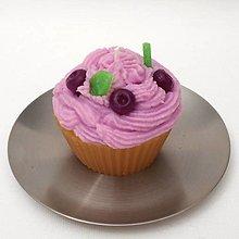 Svietidlá a sviečky - Svíčka borůvkový muffin 12217470 - 13177050_