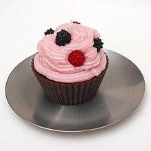Svietidlá a sviečky - Svíčka čokoládový muffin s lesním ovocem 12221570 - 13177367_