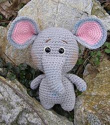 Hračky - háčkovaný sloník - 13180977_