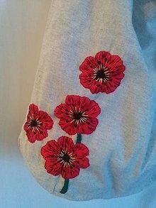 Kabelky - Maková II. (taška/bag s ručnou výšivkou) - 13181100_