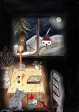 Obrazy - Škriatok / reprodukcia ilustracie - 13179528_