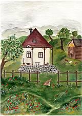 Obrazy - Domcek / reprodukcia ilustracie - 13180863_