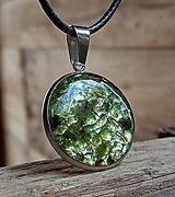 Náhrdelníky - Kruhový prívesok (CHO) olivín - 13179569_