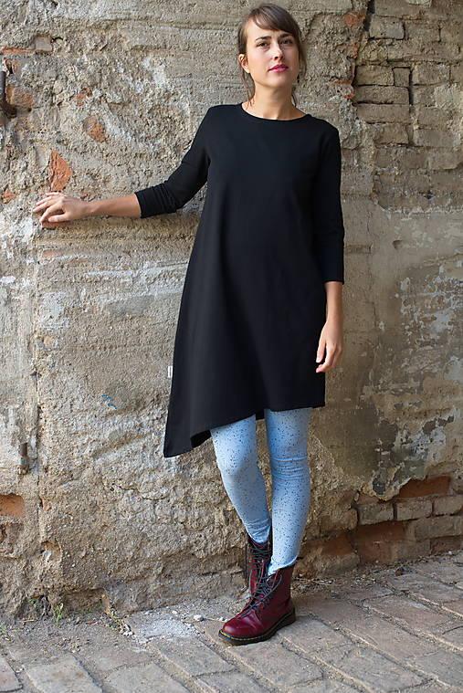 Šaty - Šaty Asymetrik black - 13183716_