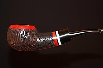 Iné - Štýlová fajka z briárového dreva #2107 - 13179421_