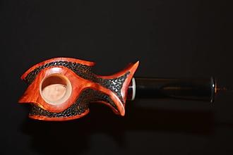 Iné - Štýlová fajka z briárového dreva #2108 - 13179431_