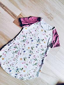 Tehotenské/Na dojčenie - Kojo tričko so vzorom - 13181482_