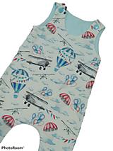 Detské oblečenie - Tepláčiky na traky balón a lietadlo - 13181968_