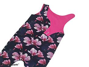Detské oblečenie - Tepláčiky na traky magnolie - 13181912_