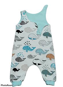 Detské oblečenie - Tepláčiky na traky rybky - 13181928_