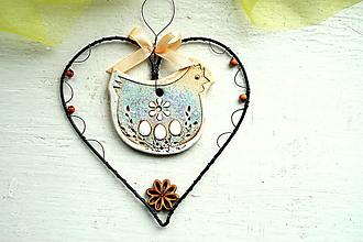 Dekorácie - jarné srdce - 13181229_