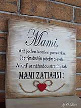 Tabuľky - MAMI - odkaz pre mamku (1 ❤) - 13184481_