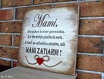 Tabuľky - MAMI - odkaz pre mamku (1 ❤) - 13184483_
