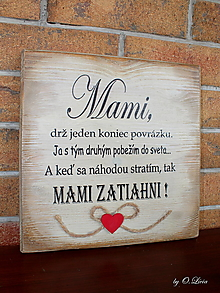 Tabuľky - MAMI - odkaz pre mamku (1 ❤) - 13184487_