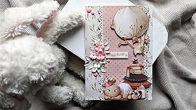 Papiernictvo - Happy birthday pohľadnica - 13184767_