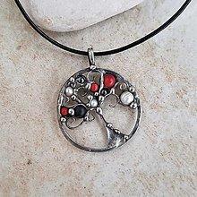Náhrdelníky - strom života RED náhrdelník - 13188651_