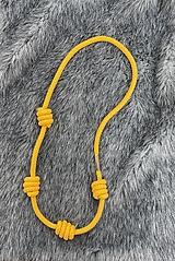 Náhrdelníky - Dlouhý žlutý náhrdelník - 13184550_