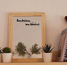 Zrkadlá - Motivačné zrkadlo s lisovanými rastlinami - 13186152_