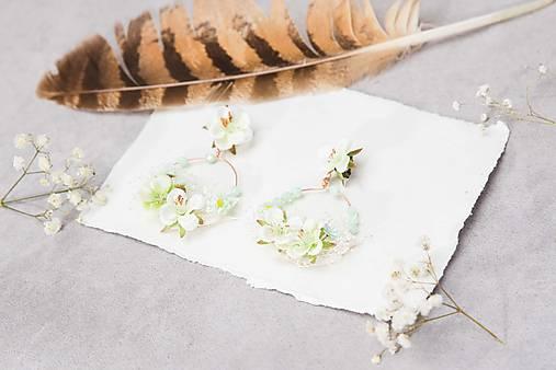 """Kvetinové kruhové náušnice """"prvé jarné dni"""""""