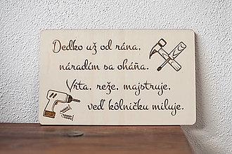Tabuľky - Dedko majster - 13187660_