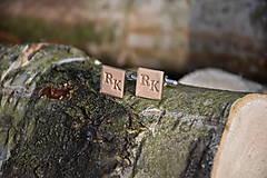 Šperky - Kožené manžetové gombíky No.98 - 13187389_