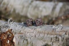 Šperky - Kožené manžetové gombíky No.99 - 13187454_