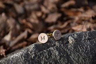 Šperky - Kožené manžetové gombíky No.97 - 13187346_