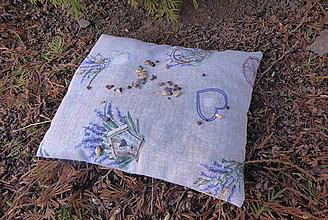 Úžitkový textil - malý pohánkový nahrievací vankúš-levandula - 13185023_
