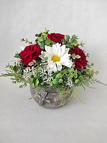 Dekorácie - Spomienková dekorácia s ružami - 13184837_
