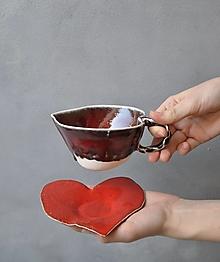 Nádoby - tanierik srdce červené - 13185647_