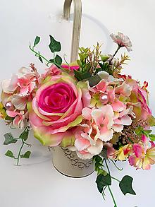 Dekorácie - Kvetinová dekorácia - 13186229_
