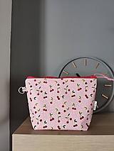 Taštičky - Kozmetická taštička Cherry - 13185179_