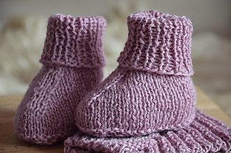 Detské topánky - Ponožky detské (11 cm - Ružová) - 13192199_