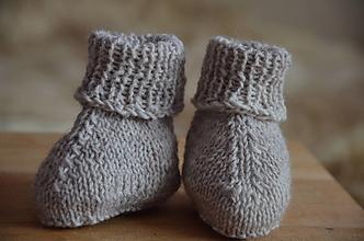 Detské topánky - Ponožky detské (8 cm - Béžová) - 13192228_