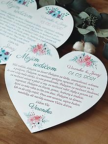 Darčeky pre svadobčanov - Poďakovanie rodičom 65 srdce ružičky - 13189998_