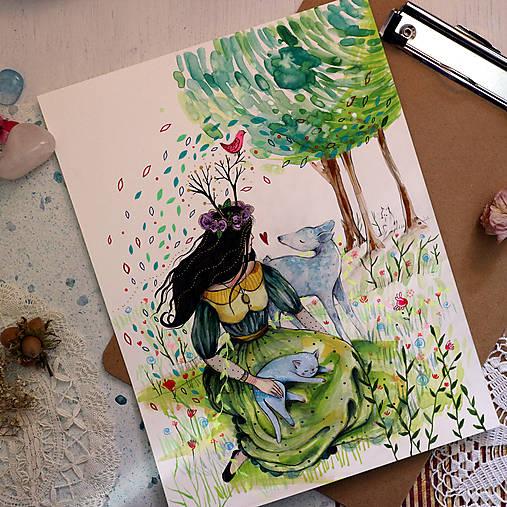 Moji blízki/ originál akvarel/ rezervovaný