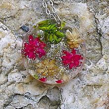 Náhrdelníky - Kvety v kruhu - 13192213_