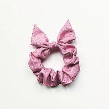 Ozdoby do vlasov - Recy-scrunchie ružová - 13191813_