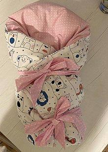 Textil - Zavinovačka pre bábo (Ružová) - 13194150_
