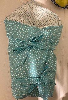Textil - Zavinovačka pre bábo (Tyrkysová) - 13194152_