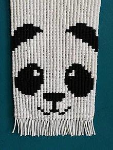 Dekorácie - Macrame obraz Panda Vanda - 13190404_