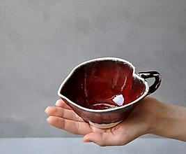 Nádoby - šálka červená srdce - 13190800_