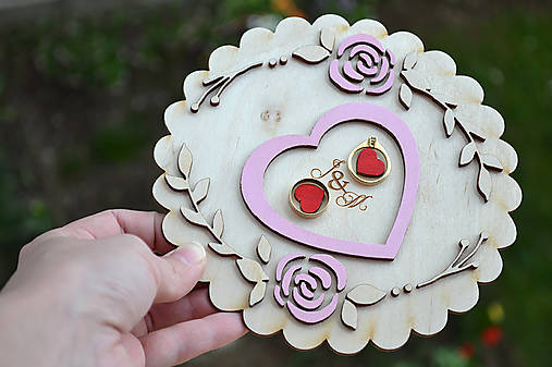 Svadobný tanierik Kvety  (Farebný)